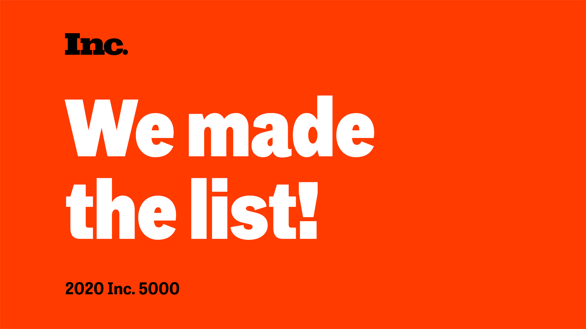 Cloudticity Named to Inc. 5000 List of Fastest-Growing Private Companies 2020